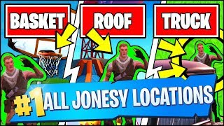 FIND JONESY NEAR THE BASKETBALL COURT, THE ROOFTOPS AND IN THE BACK OF A TRUCK (Fortnite)