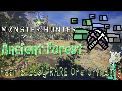 Monster Hunter World: Ancient Forest - Mining Guild! (How To Get Fast And Easy RARE Ore EARLY!)