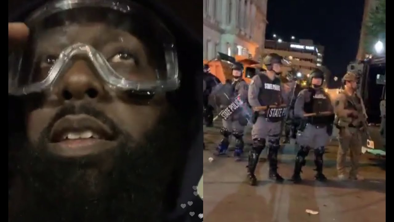 Trae Tha Truth & Mysonne Confront Louisville Police Ready To Risk Their Lives Over Breonna Taylor