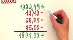 Saldo berechnen