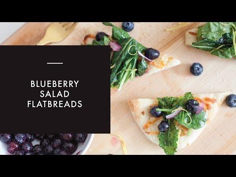 Blueberry Salad Flatbreads