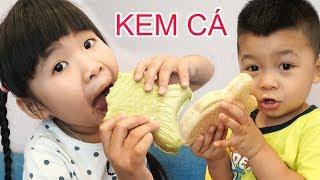 trò chơi đi mua kem cá ♥ bé bún - bé bắp ♥ cửa hàng kem thông minh đồ chơi trẻ em