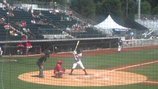 Hilarious Umpire Strike Three Call - Minor League Baseball 2011