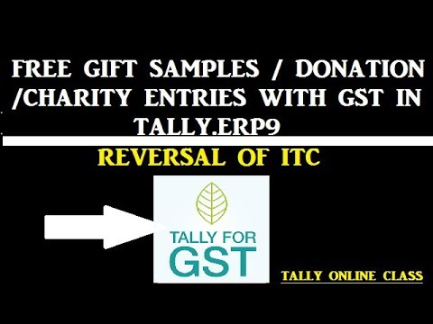 Charity Free Gift Samples Donation Entries With Gst In