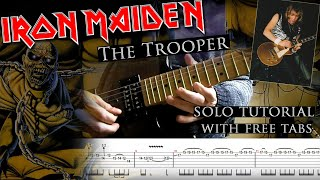 How to play Adrian Smith's solos #5 The Trooper (with tablatures and backing tracks)