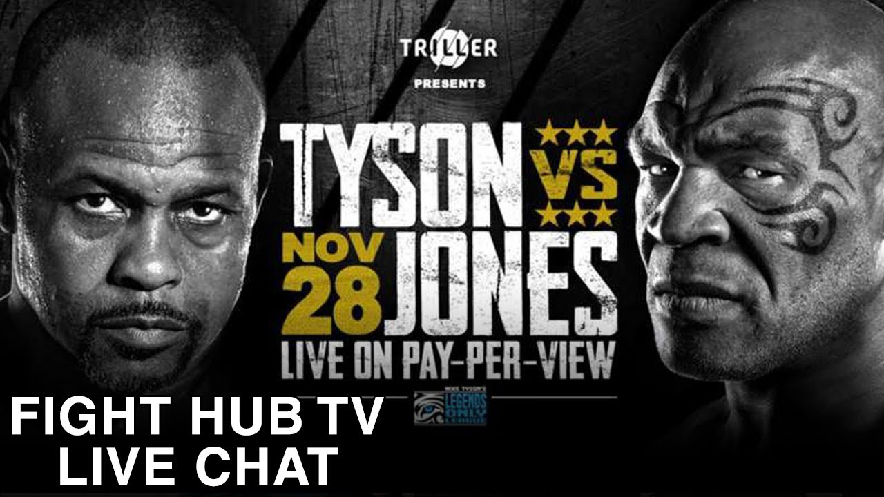 MIKE TYSON VS ROY JONES JR - EVERYTHING YOU NEED TO KNOW - FIGHT HUB LIVE CHAT
