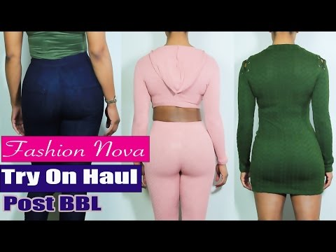 Fashion Nova Try On Haul | Look of the Day | Post BBL thumbnail