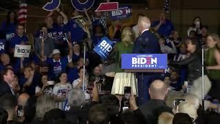 Vegan protesters interrupt Joe Biden rally