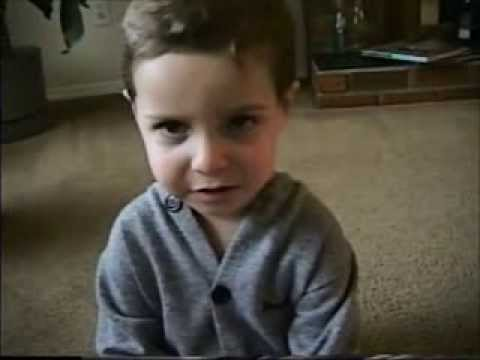 """2 year old Jared sings Elvis Presley - """"Are You Lonesome Tonight"""""""