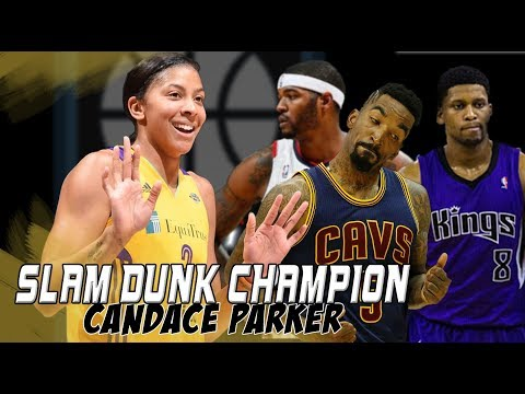 When Candace Parker beat JR Smith, Rudy Gay, and Josh Smith in a Dunk Contest!
