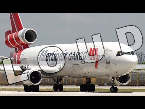 {TrueSound}™ Deafening PW Power! Heavy Martinair MD-11 ROCKET Takeoff from Miami