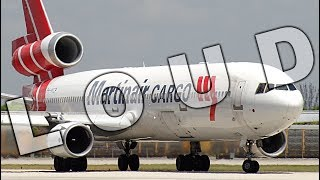 {TrueSound}™ Deafening PW Power! Heavy Martinair MD-11 ROCKET Takeoff from Miami thumbnail