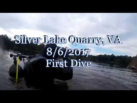 First Dive at Silver Lake Quarry VA - 8-6-2017