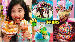 I only ate ICE CREAM for 24 HOURS!! Nilanjana Dhar