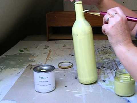 Inne rodzaje Malowanie szkła farbą kredową Vittorino cz.1 - YouTube CS77