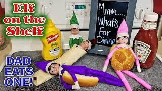 Purple & Pink Elf on the Shelf - Green Prankster Cooks Evil Elf for Dinner!!! Day 31