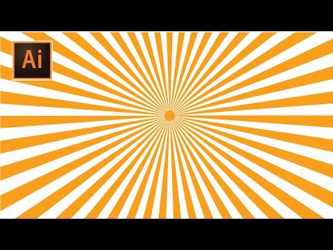 HOW TO DESIGN SUNBRUST IN ILLUSTRATOR URDU/HINDI