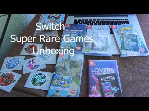 5 SUPER RARE GAMES Unboxing Nintendo Switch thumbnail