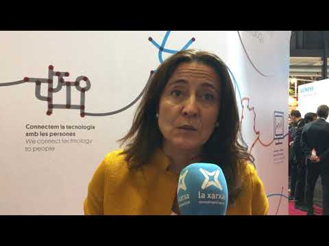 Intervenció de Mercè Conesa a l'stand de la Diputació de Barcelona a l'Smart City Expo 2017
