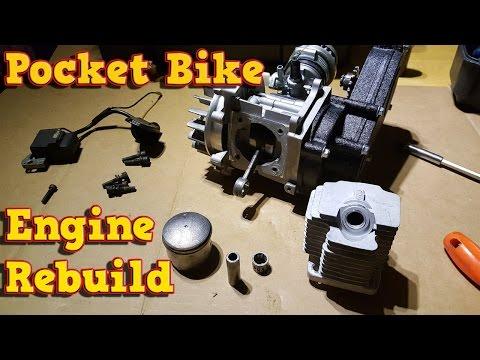 Pocket Bike Engine Rebuild - Full Instructions - 49cc, 50cc - YouTube