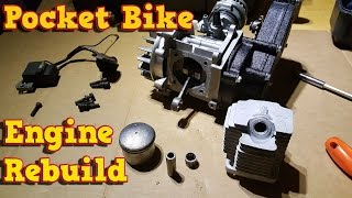 Pocket Bike Engine Rebuild - Full Instructions - 49cc, 50cc