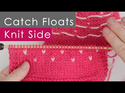 Catch Floats: Knitting on Right Side in Colorwork Stranded ...