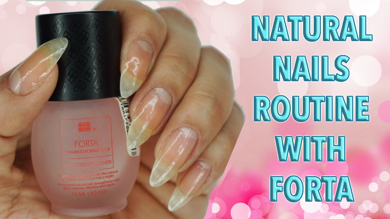 Natural Nails Routine! ☆ Zhyna - YouTube