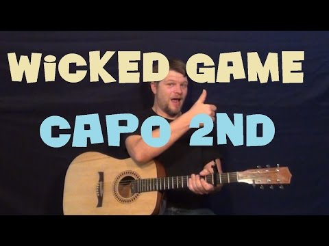 Wicked Game (Chris Isaak) Easy Strum Guitar Lesson Chord Licks How to Play Tutorial Am G D
