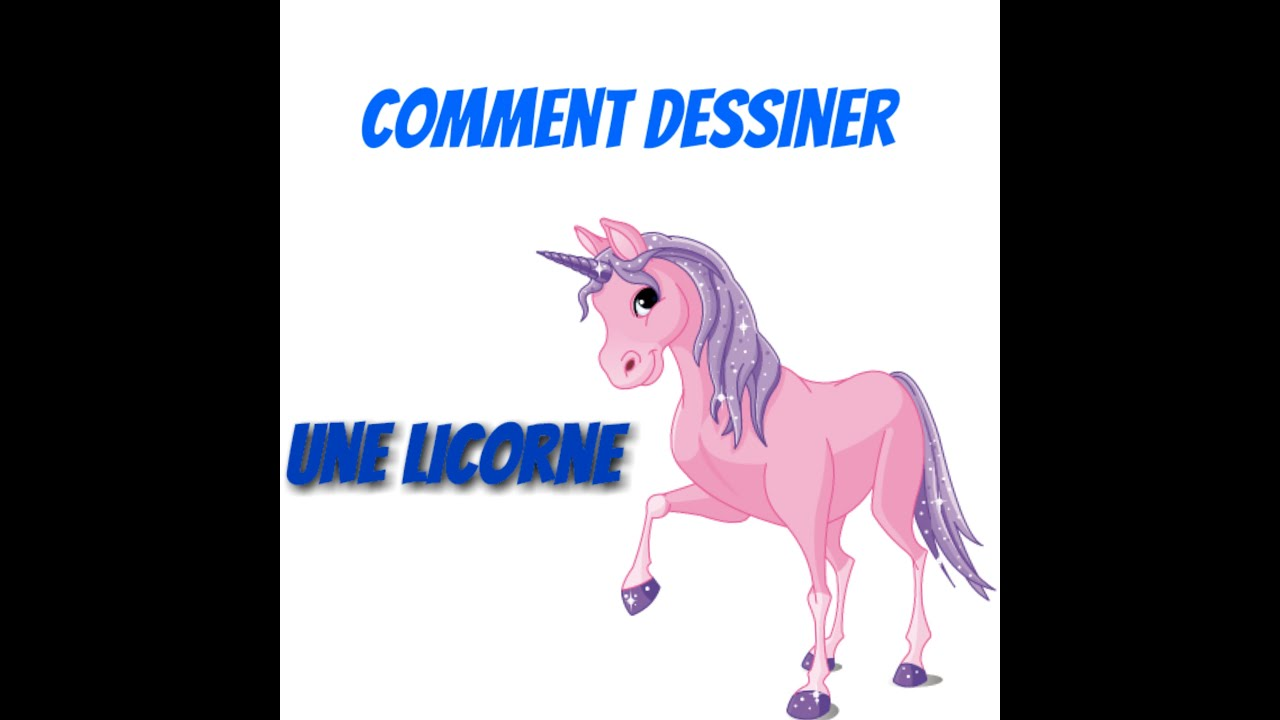 speed drawing comment dessiner une licorne youtube. Black Bedroom Furniture Sets. Home Design Ideas