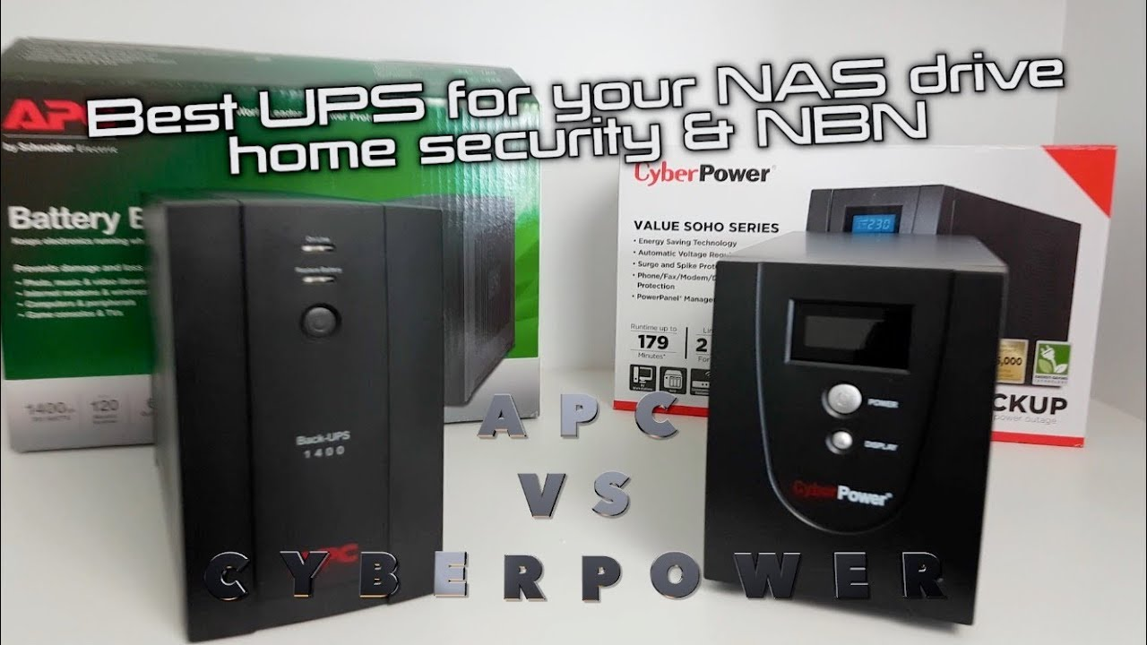 CyberPower Value SOHO vs APC Back UPS | Best Budget UPS for Synology NAS,  NBN & Home Security