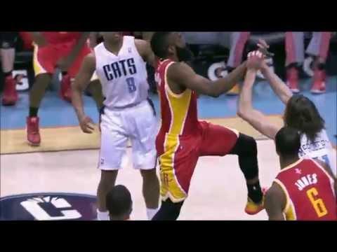 James Harden dunks all over Josh McRoberts