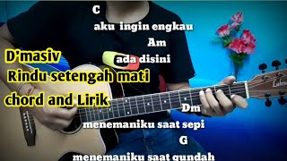 Kunci Gitar D'masiv Rindu Setengah Mati - Tutorial Gitar By Darmawan Gitar