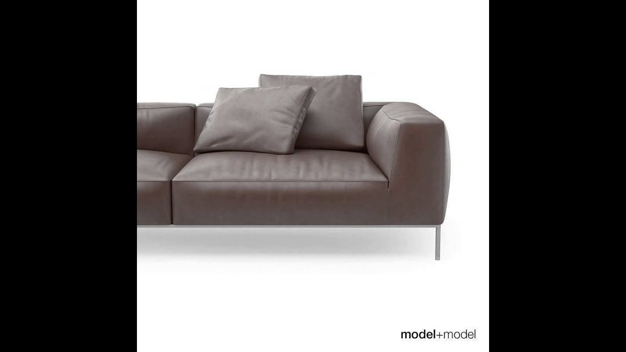 b b italia frank sofas 3d model from youtube. Black Bedroom Furniture Sets. Home Design Ideas