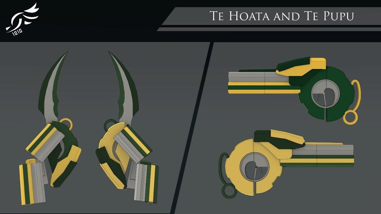 'Te Hoata and Te Pupu' - RWBY OC Weapons (Commission)
