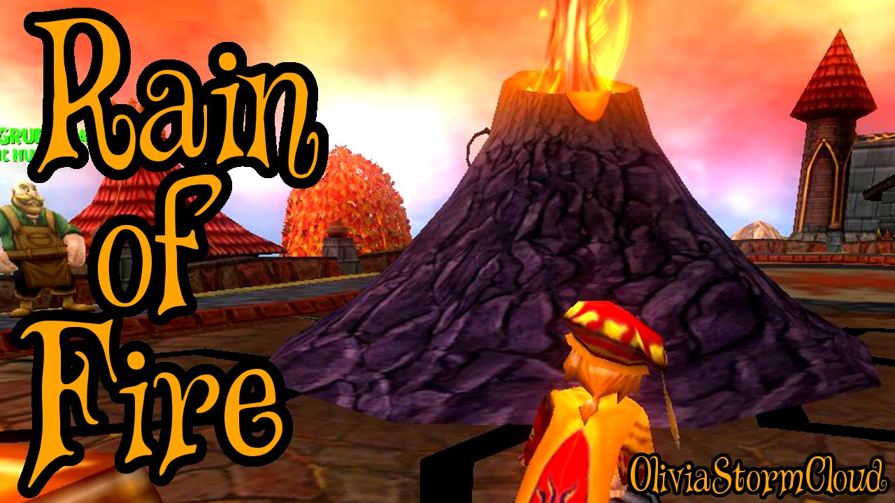 Wizard101 Level 68 Fire Spell Rain Of Fire Youtube