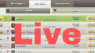 TOP CLAN OF NEPAL || WATCH TOP PLAYERS OF NEPAL PUSHING LIVE || CLASH OF CLANS