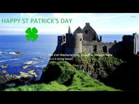 The Irish Washerwoman 5 string banjo Happy St Patrick's Day