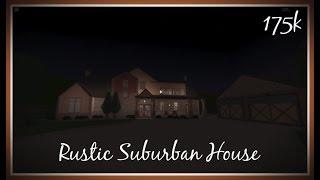 Rustic Suburban House 175K | Roblox: Welcome to Bloxburg Speedbuild