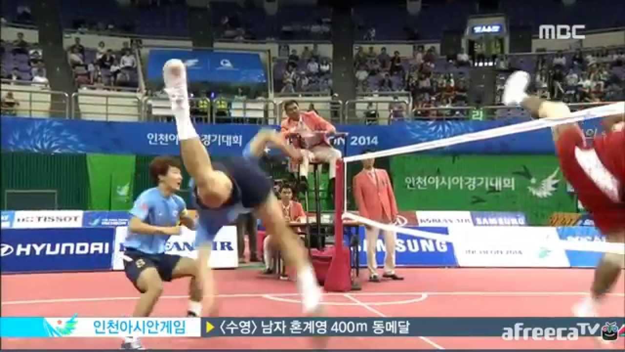 2014 Asian Games Sepaktakraw - Korea vs. Indonesia team event highlights