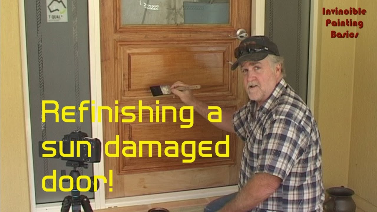 How To Refinish A Solid Wood Door With Water Stains, Easy When You Know How    YouTube