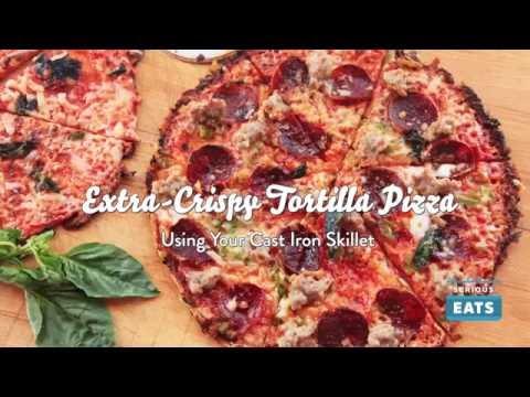 Cast Iron Tortilla Pizza