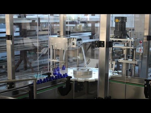 Eye Drop bottles filling capping labeling production line fully automatic filler plugger capper line