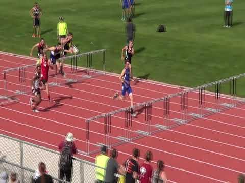 Cedaredge High School's Shane Gates wins his 110 hurdles prelim at State '16