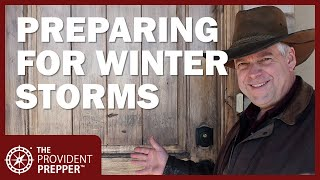 Preparing To Ride Out A Severe Winter Storm