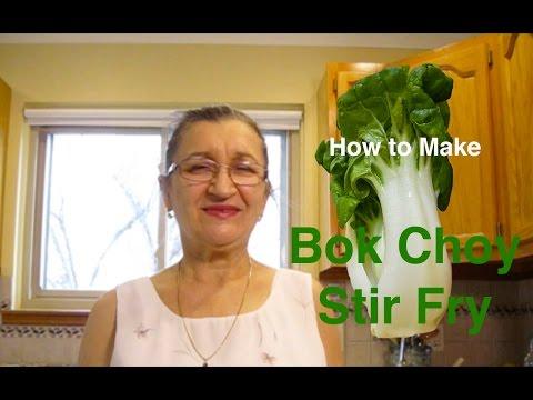 How to make bok choy stir fry