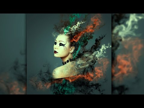 Абстрактный портрет с дымом в Фотошоп