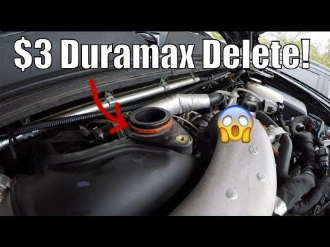 $3 Duramax Mod! Make Turbo Louder! Resonator Delete!