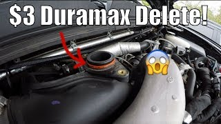 $3 Duramax Mod! Make Turbo Louder! Resonator Delete!