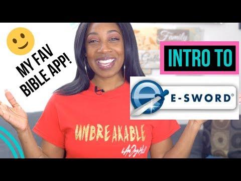 HOW TO NAVIGATE E-SWORD LT (INTRO) | My Fav Bible App!