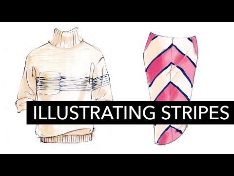 Fashion Illustration Tutorial: Stripes
